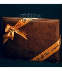 Bolçi Premium Deri Dikdörtgen Kutu Belçika Çikolatası