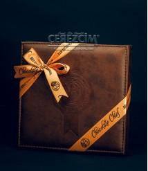 Bolçi Premium Deri Kare Kutu Belçika Çikolatası